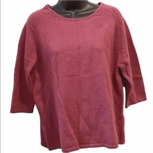 Simons contemporaine 1 00% wool pink sweater XL